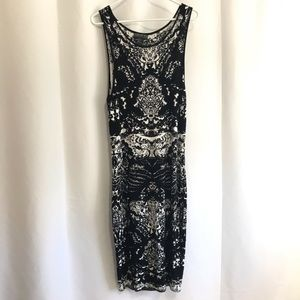 Forever 21 + Plus Dress Knit Bodycon Graphic Print